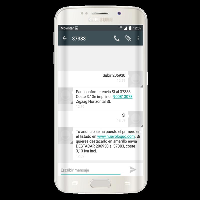Pagos móviles - Cobro SMS